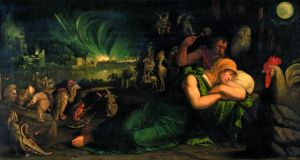 Italian painterBattista Dossi's Allegory of Night, one of the paintings in the exhibition The Renaissance and Dreams; Bosch, Véronèse, El Greco, at the Musée du Luxembourg in Paris until January 26th.
