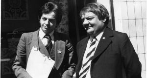 David Thornley, political analyst and later practising politician, with Charlie McCreevy. Photograph: Jimmy McCormack