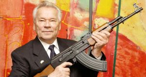 Mikhail Kalashnikov: regretted the 'misuse' of his weapons around the world.