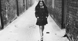 While the mini skirt in Britain was personified by Twiggy, Ireland had a very different mini-embodiment. A young civil rights campaigner called Bernadette Devlin was busy wielding a loudhailer and a banner