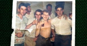 Snapshot from the early 1960s featuring Patrick Casey as a young man (far right) in Leeds with his friends  from the building sites.