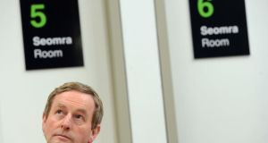 Taoiseach Enda Kenny: may be replaced by a hologram for future state-of-the-nation addresses.   Photograph: Eric Luke