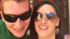 Rebecca Bird and Michael Connolly from Sligo spend their first Christmas away from home in Perth, Australia.