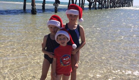 Paige, Alex and Jake Murphy, originally from Ballymurphy, Co Carlow and now living in Adelaide, Australia.