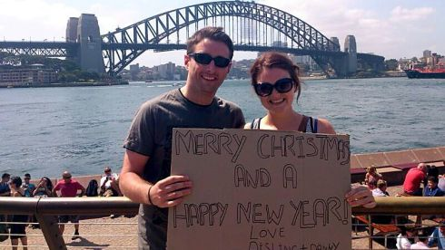 "Danny Conneely and Aisling Smith moved to Sydney this month. ""We'll miss Ireland this Christmas but it'll always be waiting for us!"""