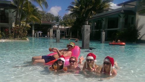 Members of the Shields family spend Christmas in Port Douglas, Queensland, Australia.