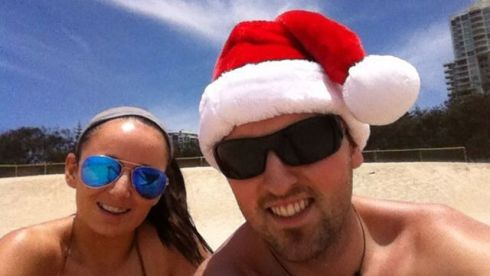 "Michelle McCormack and boyfriend Aaron Rossiter from Dublin. ""This was our first Christmas away from home and in the sun... Still hard to beat an Irish Christmas and the mighty craic."""