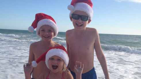 Left to right, Luke (8), Joshua (11) and Alanna Roe (4) live in Perth, Western Australia. From Navan, Co Meath,  they have been in Perth for almost four months.