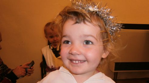 Eabha McGarry (2) in her nursery nativity play in Bristol. This is the McGarry family's first Christmas abroad.
