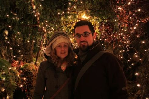 Avia and Fergal Costello, originally from Galway, spending their first Christmas away from home in Vancouver.