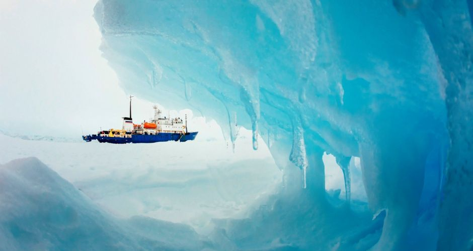 Trapped in the Antarctic