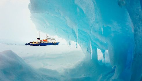The MV Akademik Shokalskiy stranded in ice in Antarctica, December 29th, 2013. An Antarctic blizzard has halted an Australian icebreaker's bid to reach the Russian ship, trapped for a week with 74 people onboard, rescuers said. The Aurora Australis had to return to open waters about 18 nautical miles from the stranded Akademik Shokalskiy because of poor visibility, the Australian Maritime Safety Authority (AMSA), which is co-ordinating the rescue, told Reuters. Photograph: Andrew Peacock/Reuters