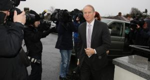 Dr Richard Haass arriving at the Stormont Hotel in Belfast today. Photograph: Paul Faith/PA Wire