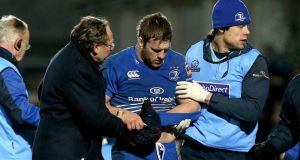 Leinster and Ireland backrow Seán O'Brien could miss the rest of the season. Photograph: Ryan Byrne/Inpho