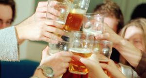 In Ireland we tend to drink in groups and in a round which means we are drinking much faster. Photograph: Getty Images