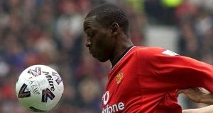 File photoggraph of  Andy Cole playing for Manchester United in 2001. Photograph:Phil Noble /PA