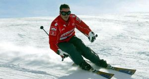 Michael Schumacher skis during a stay in the northern Italian resort of Madonna Di Campiglio in   2004. File photograph: Reuters