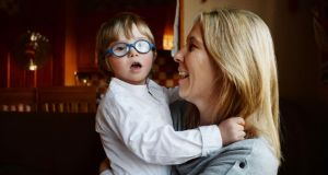 Mary Doherty with her son Aaron: parents are battling an inflexible system.Photograph:  Alan Betson