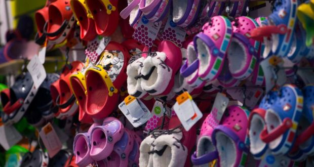 c098f0e73 Crocs shoes are displayed for sale at a store in New York yesterday.  Photograph