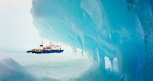The Akademik Shokalskiy left New Zealand on November 28th and has been trapped in ice since Christmas Eve. Photograph: Reuters/Andrew Peacock