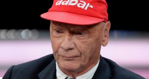Former F1 champion Niki Lauda in schock at news of Michael Schumacher injury. Photograph: Sascha Steinbach/Getty Images