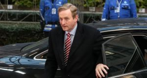 Taoiseach  Enda Kenny arrives for the second day of the European head of states summit, at the European Council headquarter in Brussels on  December 20th, 2013.  Photograph: Julien Warnand/EPA