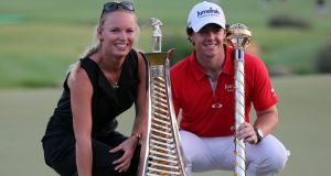 Rory McIlroy and Caroline Wozniacki who announced their engagement on New Year's Eve. Photograph: EPA
