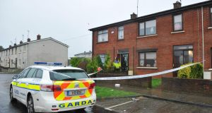 The scene of the fatal stabbing in Drogheda's Rathmullen Park where a man died. Photograph: Ciara Wilkinson.