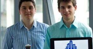 Niall McCormick and Colmán Munnelly, founders of Irish educational technology start-up Colmac Robotics