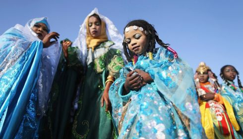 Queens of the desert. Photograph: Esam Omran Al-Fetori/Reuters