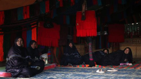 Tuareg women rest in a tent. Photograph: Esam Omran Al-Fetori/Reuters