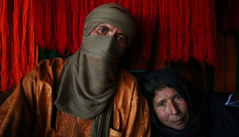 A Tuareg couple in their tent. Photograph: Esam Omran Al-Fetori/Reuters