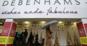 The Debenhams store on Oxford Street, London. The group's chief  financial officer resigned after  a  warning  of a  profits plunge as a hoped-for sales surge in the last week before Christmas failed to materialise. Photograph: Yui Mok/PA