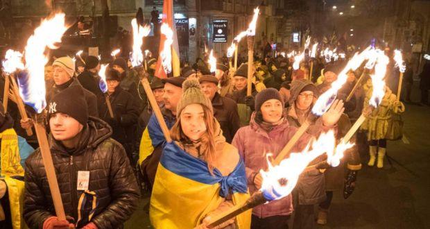 ukraine right revives wartime symbols amid revolution