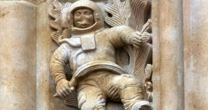 The astronaut carving at the Catedral Nueva in Salamanca