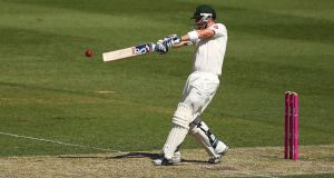 Brad Haddin of Australia plays a pull shot as he helped to rescue the Australian innings on day one of the fifth Ashes test. Photograph: Matt King/Getty Images