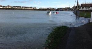 Flooding at the Malahide estuary in Dublin courtesy of Marty Miller