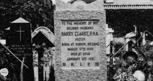 'Clarke  died  at the  sanatorium of Arosa. After a tiny funeral he was buried in the graveyard of the Catholic Cathedral of Chur . . . Clarke's headstone (above) was removed and his remains were relocated to an unmarked communal plot 15 years after his death.'