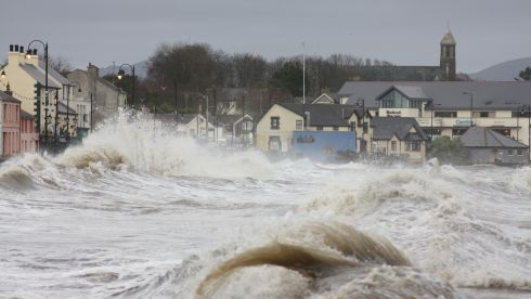 High tide at Blackrock, Co Louth. Photograph: Aidan Devenney