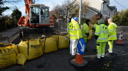 Prospect Avenue in Sanymount protected by Dublin City Council. Photograph: Cyril Byrne/Irish Times