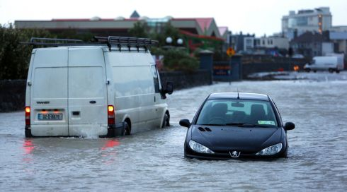 Flooding at Salthill, Galway following the high tide and storm.  Photograph: Joe O'Shaughnessy.