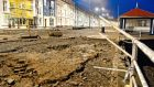 Storm  damage sustained by the promenade in Aberystwyth, West Wales. Photograph: Dimitris Legakis/EPA