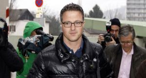 Ralf Schumacher, brother of former Formula One world champion Michael Schumacher, arrives at the CHU hospital  in Grenoble, France this morning. Photograph: Emmanuel Foudrot/Reuters
