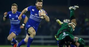 Leinster's Gordon D'Arcy makes a break against Connacht at the Sportsground.  Photograph: Billy Stickland/Inpho