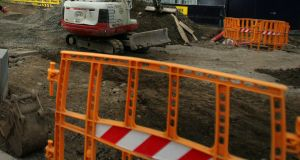 Eleven people died in construction sector workplace accidents last year. Some 46 people in total lost their lives in such incidents. Photograph: Kate Geraghty/The Irish Times
