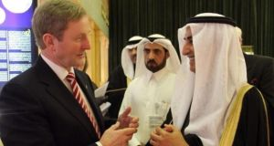 Enda Kenny pictured in Saudi Arabia earlier today.
