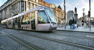 The construction of the new Luas Cross City line will begin at six sites from St Stephen's Green to Parnell Street in the coming days. Photograph: Matt Kavanagh