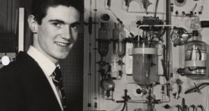 John Monaghan, the first young scientist winner in 1965, built a working model of the human stomach