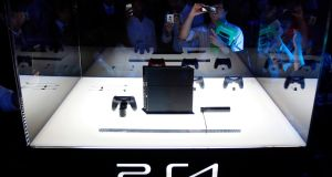 Sony Corp's PlayStation 4 game console at Tokyo Game Show, Japan. Photograph:Yuya Shino/Files/Reuters