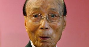 Run Run Shaw: the pioneering Hong Kong movie producer  has died at the age of 107. Photograph: Kin Cheung/AP Photo